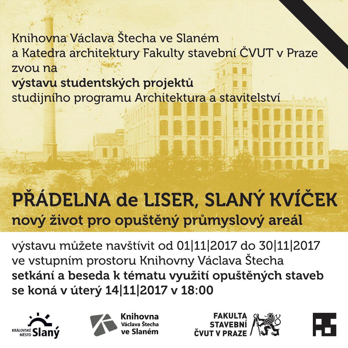 Výstava studenstkých prací Přádelna de Liser ve Slaném